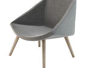 Bloomingville Elegant Armchair Gray 3D