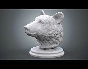 3D printable model Black Bear Bust statue
