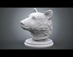 3D printable model Black Bear Bust statue