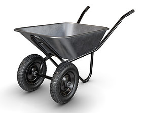 3D Wheelbarrow Black