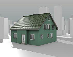 City House - 35 - Half Double House - Roof 3D model 3