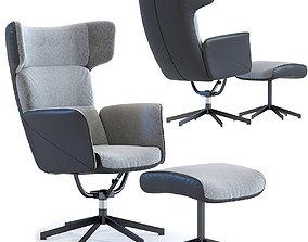 Swivel Chair Stool Ohio Salt and Pepper 3D model