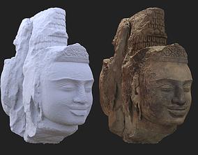 Brahma heads Cambodia Angkorian artifacts 3D