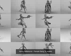 3D model House Bellamorte - Female Gang