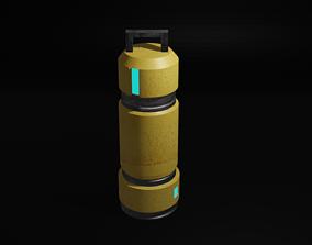 sci fi atomic battery 3D model