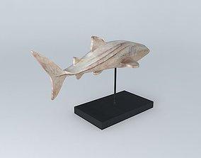 3D decorative fabric shark