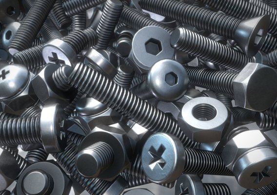 Modular Clean Nuts and Bolts (Low-Poly)