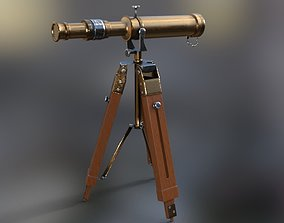 3D model Telescope pirate old