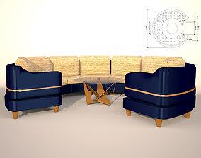 sofa round 3D model