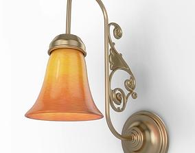 Antique Orange Wall Lamp 3D