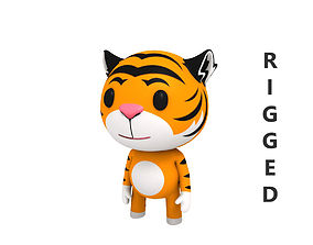 3D Rigged Tiger