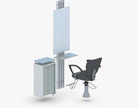 3D model 0888 - Hairdresser Chair