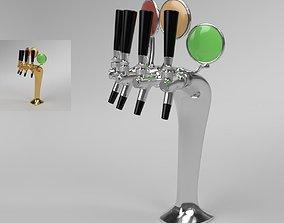Beer Tower Cobra 4-way Blender Cycles 3D