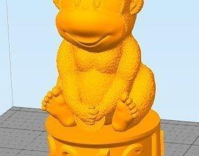 3D model animated monkey
