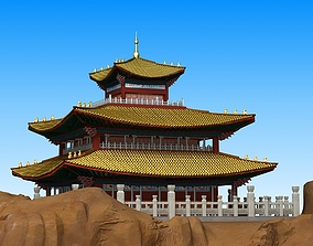 3D model Chinese Architecture Scene