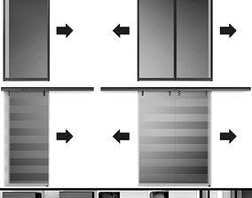 Automatic Sliding Metal Glass Doors 3D