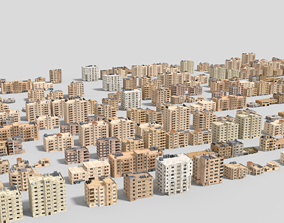 24 arabian middle east buildings 3D model