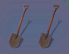 Game ready Shovel 3D model