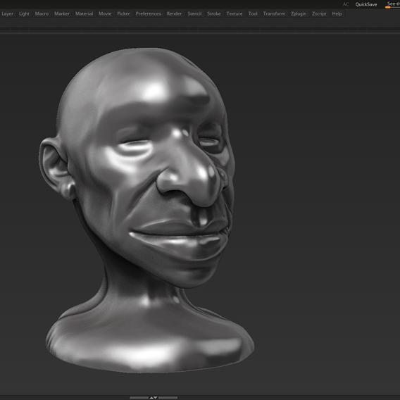 human head modern sculpture 3d print model 106