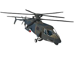 Helicopter 3D asset VR / AR ready