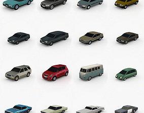 Low Poly Cars Pack Vol 1 3D model