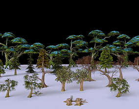 Low Poly Tree Collection 3D asset realtime