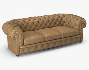 Poltrona Frau Chester 3 Seater Sofa 3D