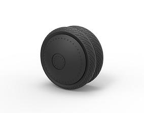 3D print model Diecast Double wheel 1