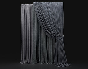 Curtain Grey-30 3D model