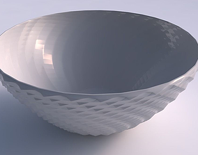 3D printable model Bowl wide with grid piramides