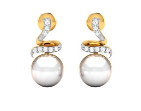 huggie Women earrings 3dm render detail
