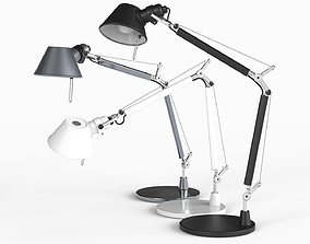 3D asset Low-poly Table Lamp 002