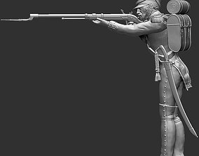 Napoleon Infantry Soldier standing in 3D print model 1