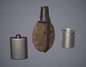 3D model Old Flasks