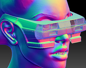 Retro Futuristic 80s Car Sunglasses 3D printable model