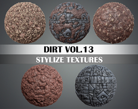 Stylized Dirt Vol 13 - Hand Painted Texture 3D model