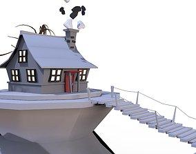 3D CARTOON HOUSE cartoon