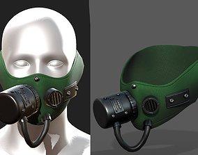 Gas mask protection futuristic respirator 3D asset