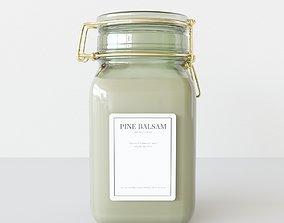 Aroma Candle Pine Balsam 3D