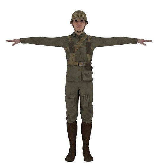 soldier 3d model.
