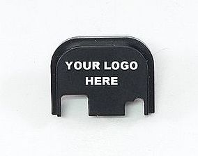 3D printable model Glock back plate blank