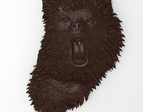 Angry bear bas relief for CNC 3D print model