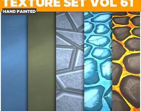 Tiles Lava Stone Vol 61 - Game PBR Textures 3D asset