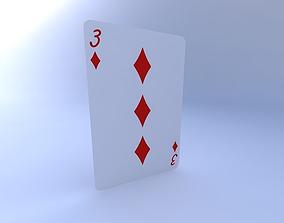 3D model Three of Diamonds