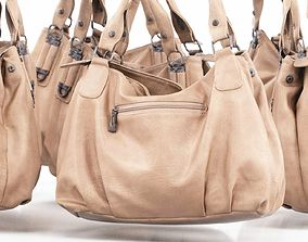 Light Brown Leather Handbag 3D asset