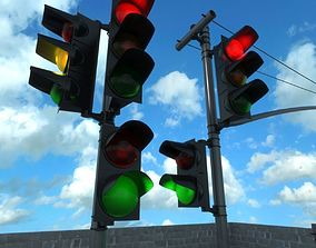 3D model traffic lights collection
