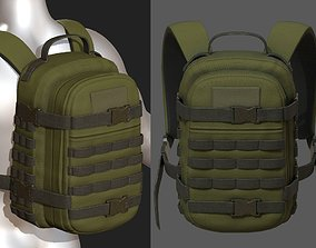 low-poly Backpack Camping military combat 3d model low