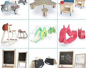 nursery Toys and Vehicles Collection 3D model