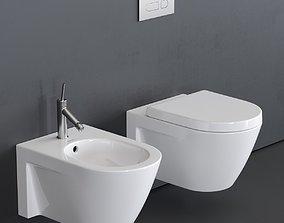 Duravit Starck 2 Wall-hung WC 3D asset