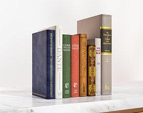 3D model hardcover-book A few standing books